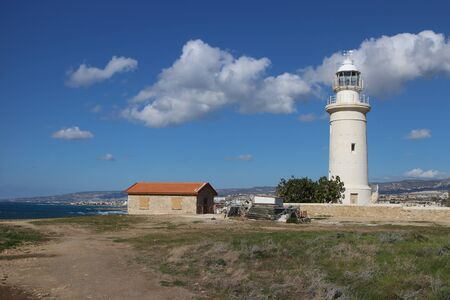 archaeological: Lighthouse at Paphos Archaeological Park Editorial