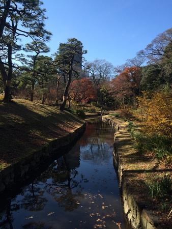 poems: Park in Japan Stock Photo