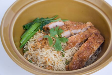 Fried chicken with noodle. 写真素材