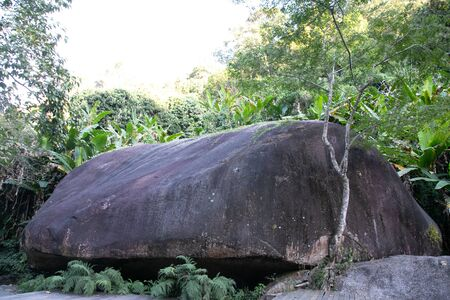 Giant Rock, the largest freestanding boulder, located in thailand.