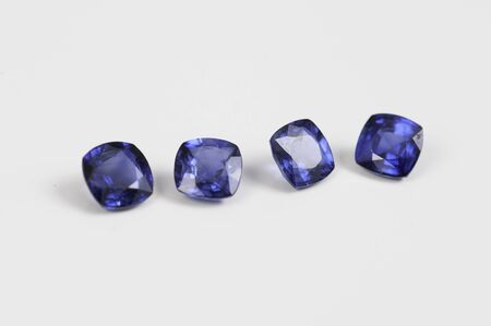 Natural Loose Blue Sapphire Gemstone. Stock Photo