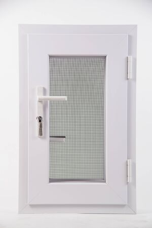 mosquito window screens on white background