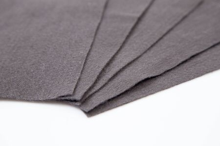 Gray Thick fabric on the white background