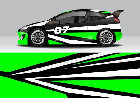 car wrap with modern abstract background vector design for racing, livery, drift, sports