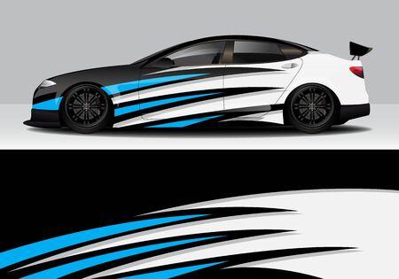 car wrap with modern abstract background vector design Ilustração