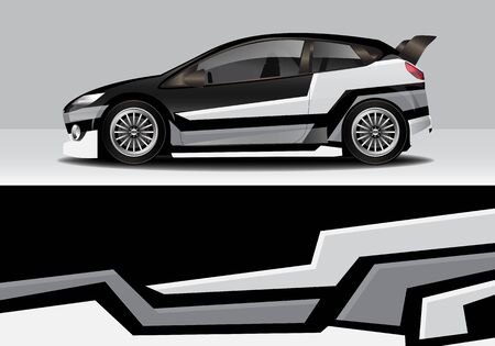car wrap with modern abstract background vector design 일러스트