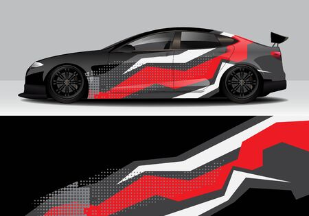 car wrap with modern abstract background vector design 스톡 콘텐츠 - 134000319