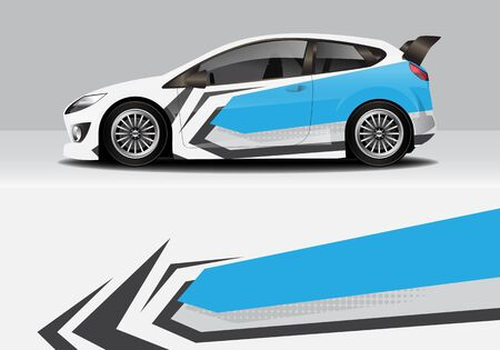car wrap with modern abstract background vector design
