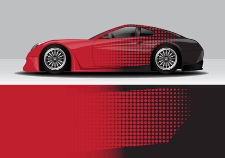car wrap with modern abstract background vector design Vetores