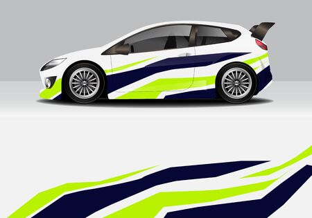 involucro per auto con disegno vettoriale di sfondo astratto moderno