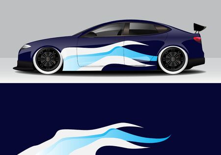 car wrap with modern abstract background vector design Illusztráció