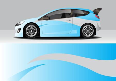 car wrap with modern abstract background vector design Ilustração