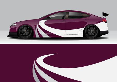 car wrap with modern abstract background vector design Иллюстрация