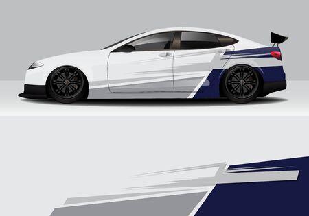 car wrap with modern abstract background vector design Ilustração Vetorial