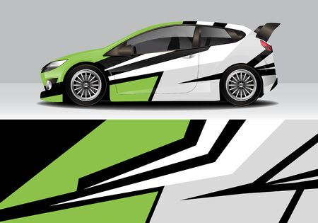 car wrap with modern abstract background vector design Illustration