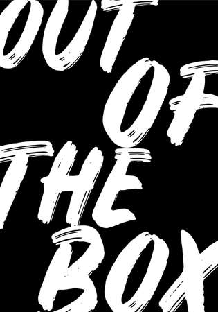 out of the box tshirt quote vector design grunge style illustration 일러스트