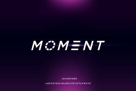 moment. Abstract minimal modern alphabet fonts. futuristic typography vector illustration