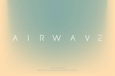 airwave. Abstract elegant futuristic alphabet font. digital typography vector illustration design