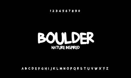 Boulder handwritten alphabet vector sans serif font design