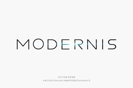 Modernis, a modern minimalist clean alphabet font. typography vector illustration design
