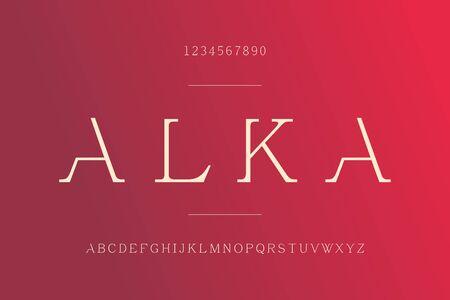elegant alka feminine minimalist serif font vector design.