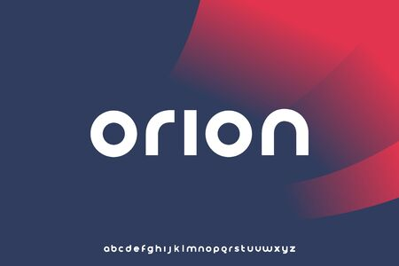 Orion, Abstract technology science alphabet lowercase font. digital space typography vector illustration design