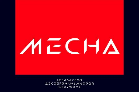 Mecha, an Abstract modern minimalist alphabet fonts. technology futuristic industrial creative Typography. vector illustration 일러스트