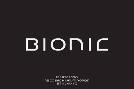 Bionic, an abstract technology science alphabet font. digital space typography vector illustration design 일러스트