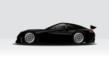 Modern clean minimalist racing, sports car mock up design, isolated on a white background vector illustration 일러스트