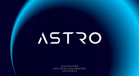 Astro, an abstract sporty technology science alphabet font. digital space typography vector illustration design 일러스트
