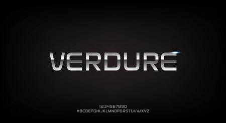Verdure, an abstract technology futuristic alphabet font.