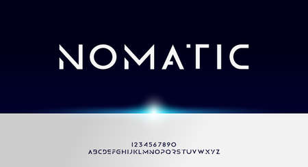 Nomatic, Abstract technology futuristic alphabet font. digital space typography vector illustration design