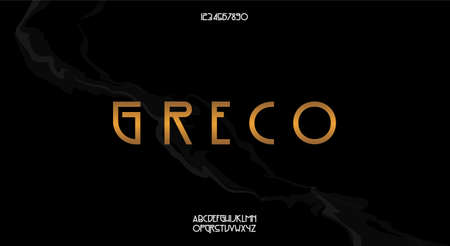 Greco, a classy vintage style typeface. Vector illustration font design 일러스트