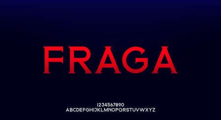 Fraga, an elegant alphabet font and number. Premium uppercase fashion Design typography. vector illustration