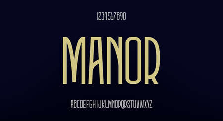 Manor, an elegant tall font. modern typeface vector design