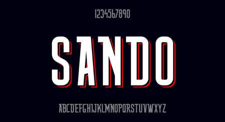 Sando, a decorative elegant tall font. modern typeface vector design 일러스트