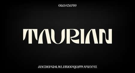 Bold and elegant font, modern typeface design. Alphabet vector illustration
