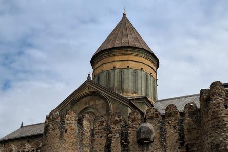 11th century: 11th century orthodox Svetitskhoveli Cathedral in Mtskheta, Georgia