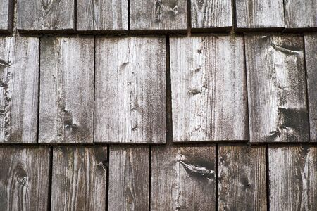 Texture background of roof wood tiles