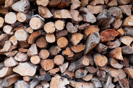 Stack of firewood texture background Stock fotó - 127834380