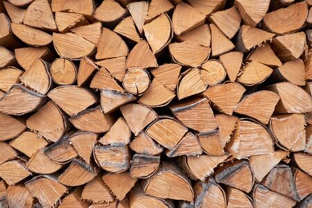 Texture background of woodstack