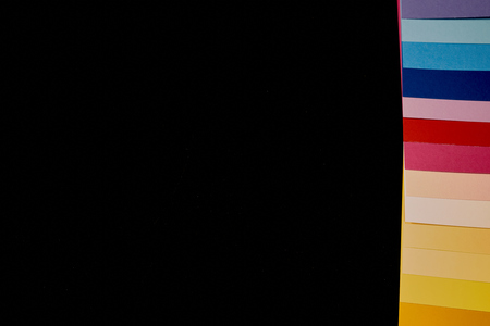 Multicolored stripes on blackboard with copy space
