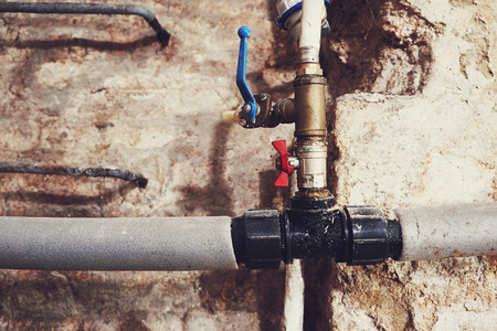 Old plumbing and water pipes