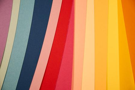 Mulicolour paper sheets stripes copy space Stock fotó - 81835297