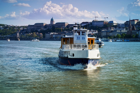 Cruise tourist boat in Budapest Stock fotó