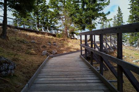 Hiking trail in Austrian Alps Stock fotó