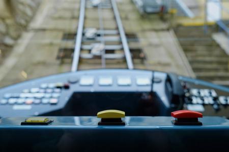 Closeup of funicular dashboard