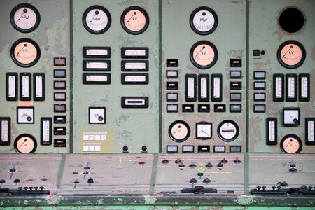 Dials and switches in the abandoned control room