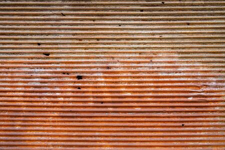 Rusty corrugated metal background