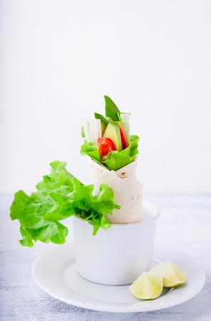 Vegetable wrap sandwiches